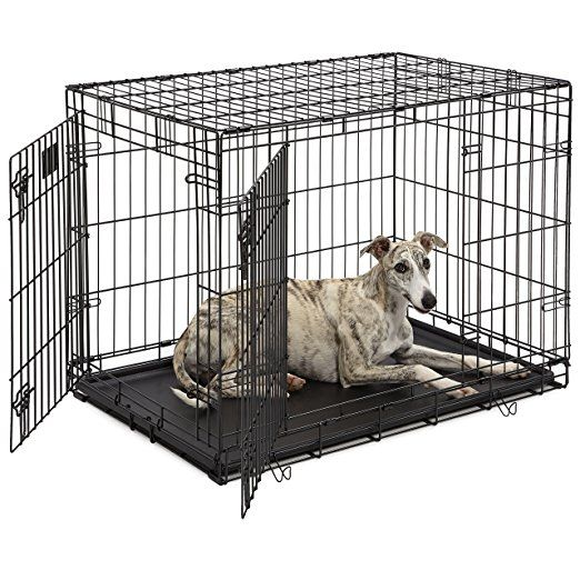 Dog Crate Midwest Life Stages 36 Double Door Folding Metal Dog Crate Divider Panel Floor Protecting Feet Leak Dog Crate Dog Cages Puppy Crate