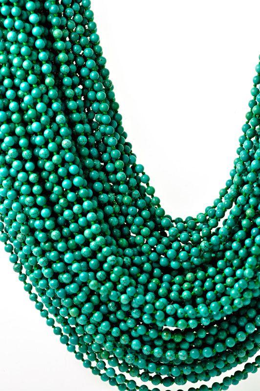 Monies Turquoise Multi Strand Necklace