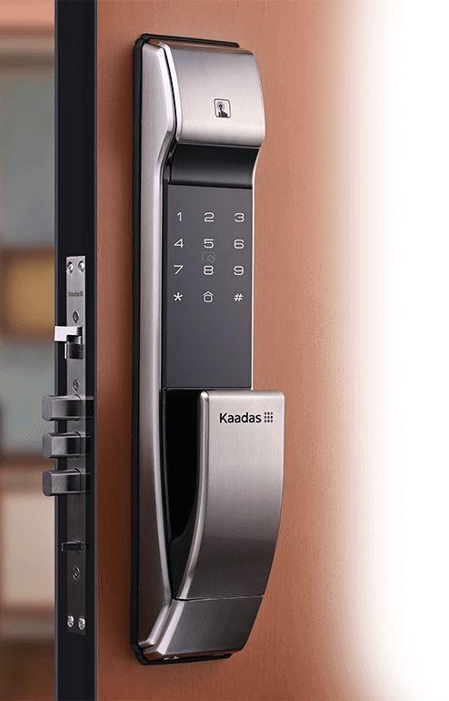 Silver Front Plate Digital Door Lock Smart Door Locks Door Lock System