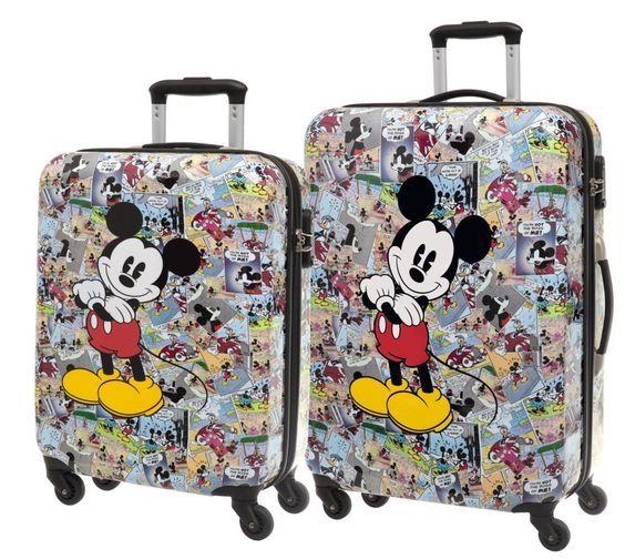 Conjunto De Dos Maletas De Viaje Disney De Mickey Pertenecientes A La Colección Cómic Mickey Mouse Bag Disney Luggage Disney Bag