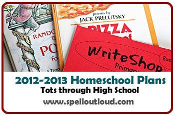 2012-2013 #homeschool curriculum plans from @SpellOutloud