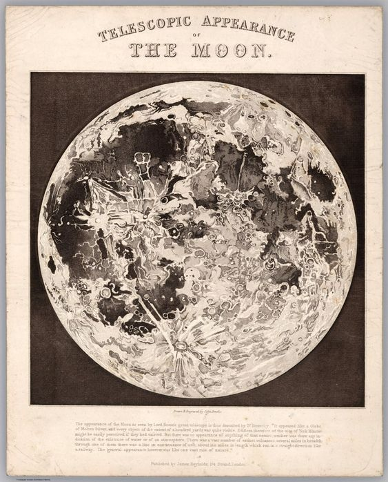 Telescopic appearance of the Moon. You can also shine a light through the back of the page to see more details.