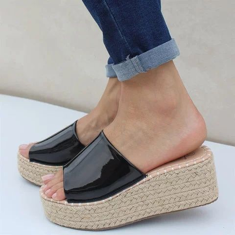 Slip On Espadrille Wedges Women's Shoes - gifthershoes