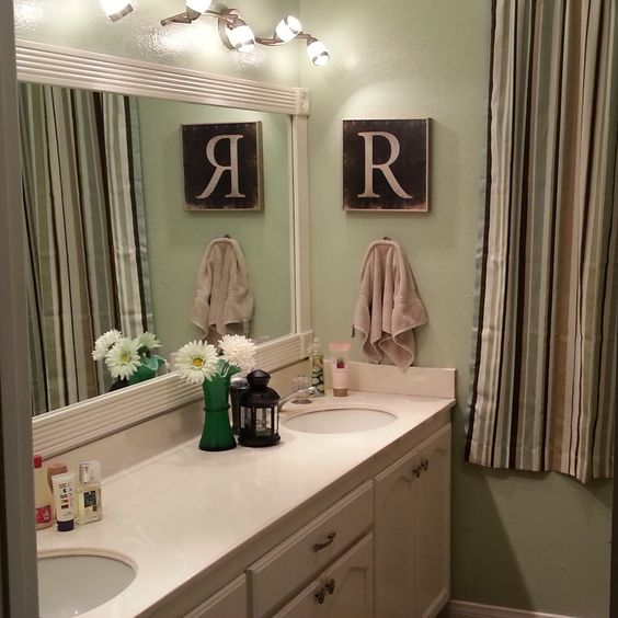 My New Bathroom Paint Colors Are Glidden Soft Sage And