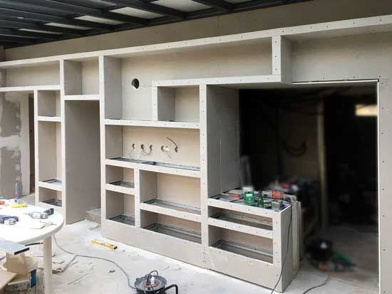 Fabriquer Grande Bibliotheque Murale 3 Etagere Murale Tv Mobilier De Salon Armoire Chambre