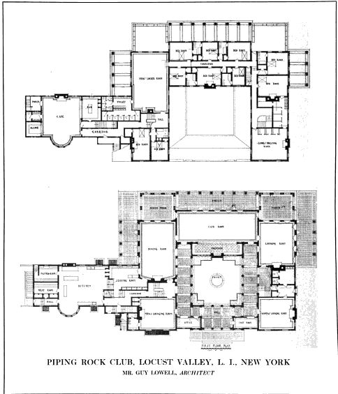 Piping Rock Architectural Floor Plans Mansion Floor Plan Courtyard House Plans