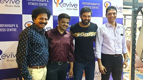 Actor Arya Inaugurate Revive Fitness Centre In Nolambur