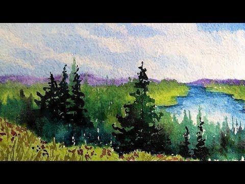 Easy Watercolor Landscape Demonstration For Beginners Art