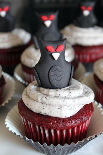 Impactantes adornos para cupcakes de halloween striking - Adornos de halloween ...
