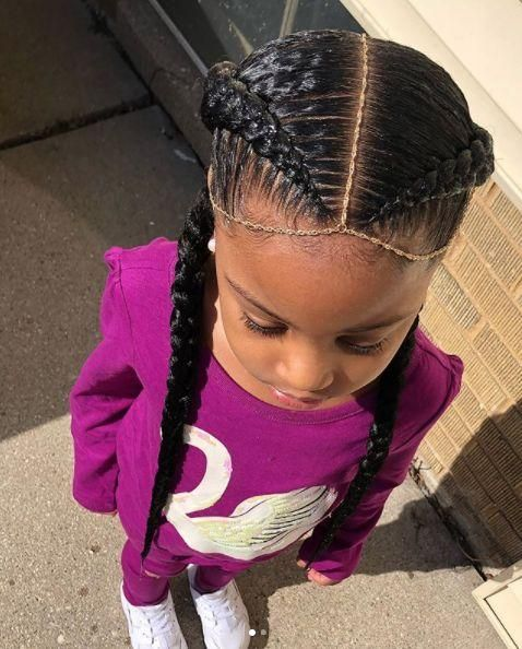 50 Best Hairstyles For African American Girls In School Easy Braids Easy Braid Styles Little Girl Braids