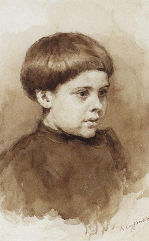 Portrait of O. V. Surikova, 1885  Vasily Surikov: