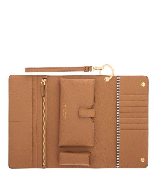 <p>The Uptown Out & About Wallet is for the Bendel Girl who's all about town with every essential at hand. Crafted with fine pebbled leather in a variety of this season's hottest hues, this luxury handbag accessory boasts a slot for everything—including your lipstick.</p>