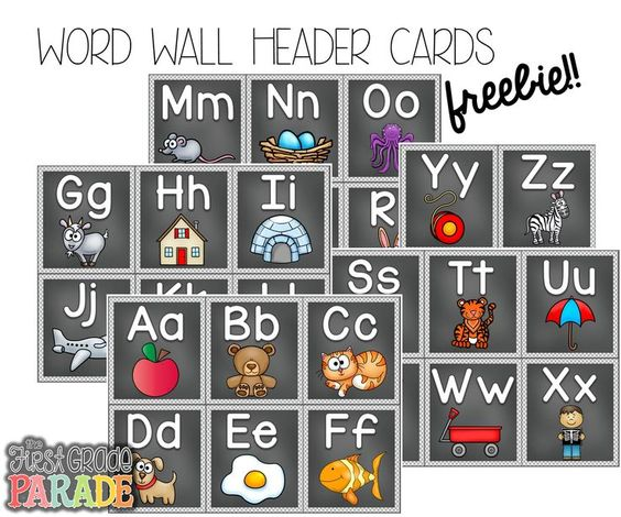 """FREE Word Wall Header Cards .... Follow for Free """"too-neat-not-to-keep"""" teaching tools & other fun stuff :)"""