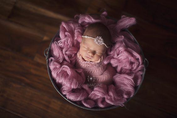 beautiful newborn in pink perfect