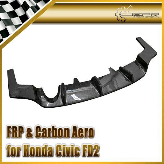 Автомобиль для укладки Для Honda Civic 2006 4 Двери FD2R Type-R Js Углеродного Волокна Задний Бампер Диффузор Под (JDM) На Складе
