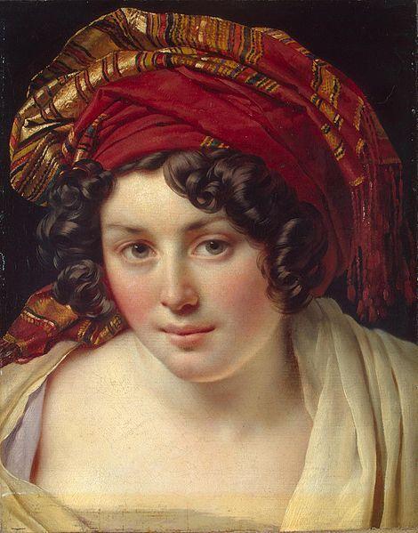 Portrait of Mademoiselle Lange, by Anne-Louis Girodet de Roussy-Trioson (French, 1767–1824):