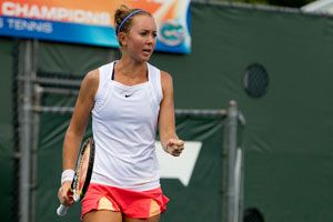 Seniors Lauren Embree (pictured) and Caroline Hitimana helped UF to a 55-0 home record during their career.