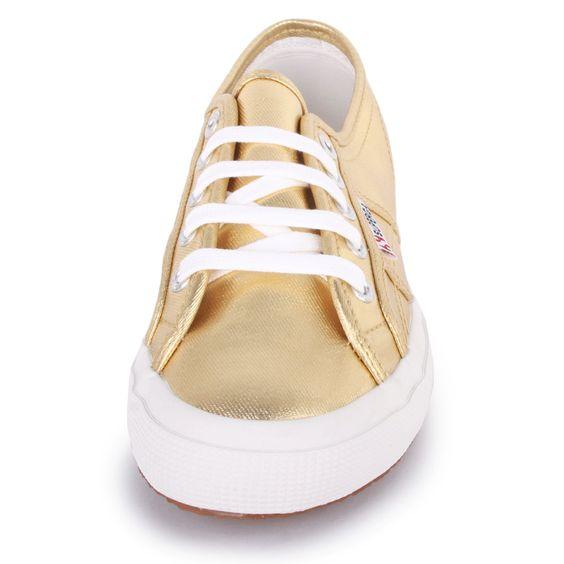 Superga-2750-Cotmetu-Damen-Textile-Gold-Sneakers-Neu-Schuhe
