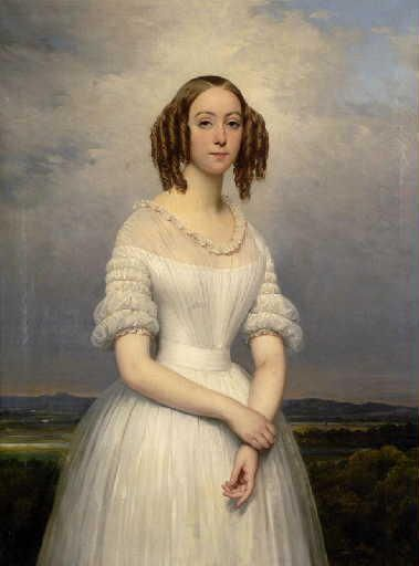 Portrait of Madame Achille Flaubert, 1839 1830's evening