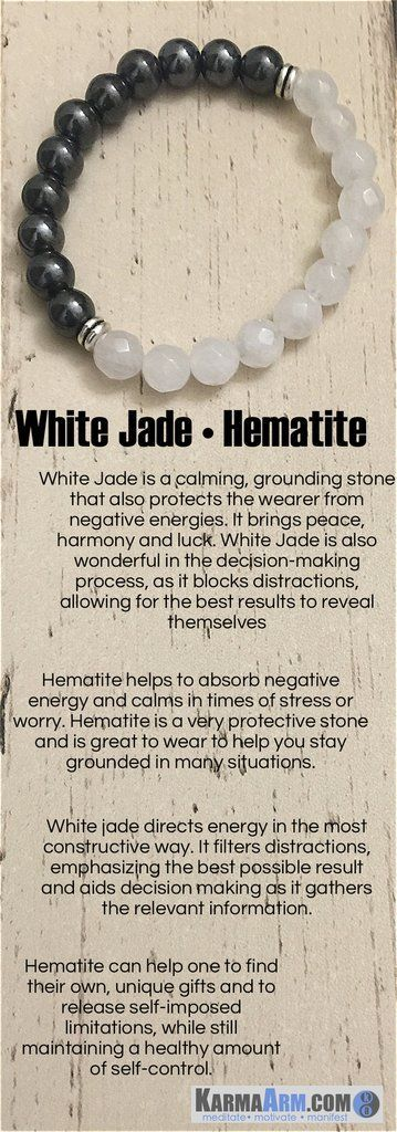 White Jade is a calming, grounding stone that also protects the wearer from negative energies. It brings peace, harmony and luck.  #love #charm #yoga #mala #womens #mens #bracelets #sexy #cool #bracelet #chakra #goals #happiness #bead #tibetan #beads# #mantra #healing #zen #meditate #karma #style #prayer #spiritual #meditation #friendship #lucky #buddhist #buddha #aura #fitness #luck #luxury #power #energy #crystal #motivate