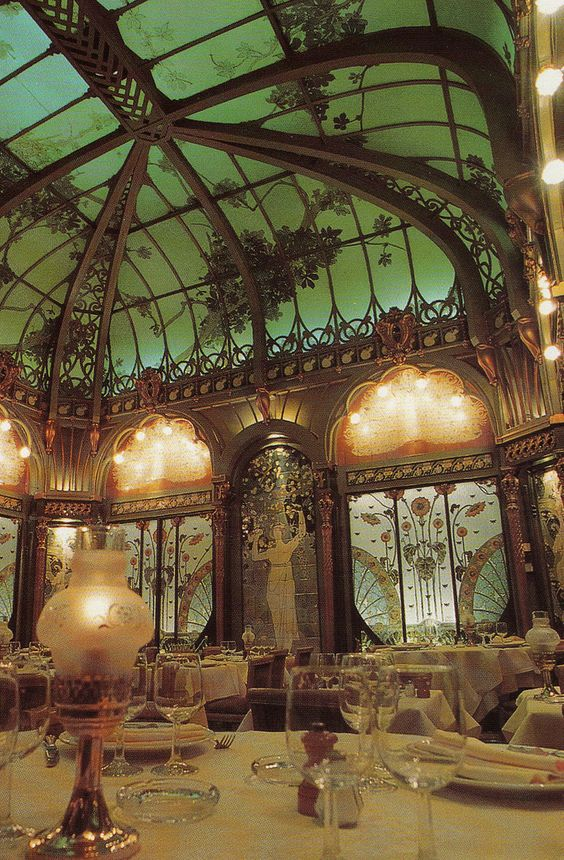 Art Nouveau ~ Restaurant in l'hôtel langham ~ Paris ~ France Yvette Gauthier                                                                                                                                                      More