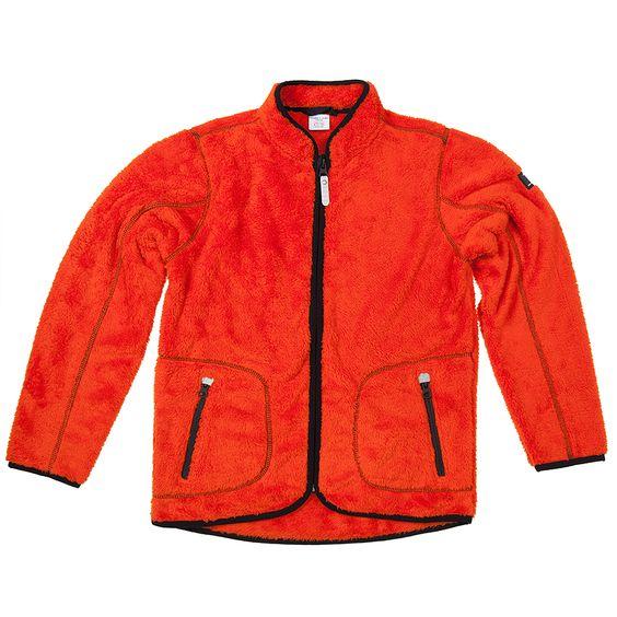 Colourful kids coats Swedish outerwear for kids orange fleece