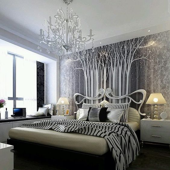 Art Nouveau Bedroom: I Need A Black And White Striped Sheet Or Blanket, This Is