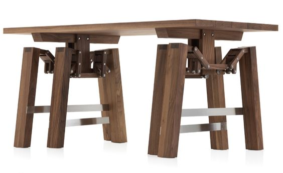 What you see here is a walking table (Video: http://youtu.be/mBOdZ6nhDJg) #table