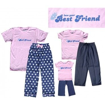 Our extensive collection of Best Friend Pajamas in a wide variety of styles allow you to wear your passion around the house. Turn your interests, causes or fan favorites into a killer comfy pajama set.