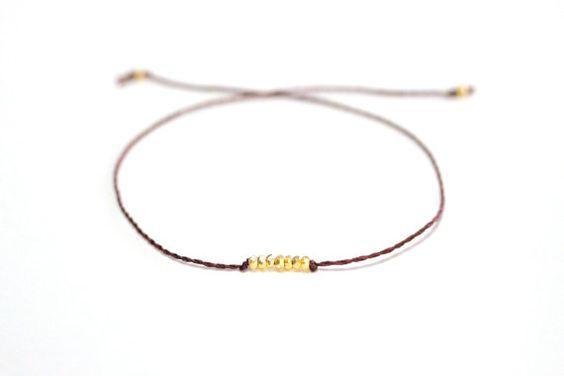 The Wish Bracelet  Mahogany by ayofemijewelry on Etsy, $19.00
