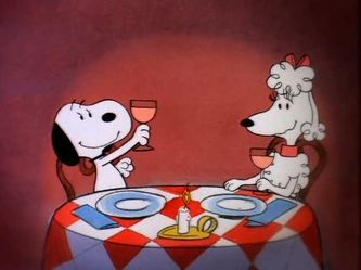 Image result for snoopy getting married