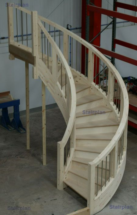 Curved staircases made by stairplan spiral stairways for Build your own spiral staircase