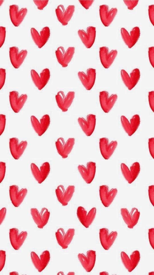 February Screensavers Small Red Hearts On White Background Wallpaper Iphone Background Pattern Iphone Background Red February Wallpaper