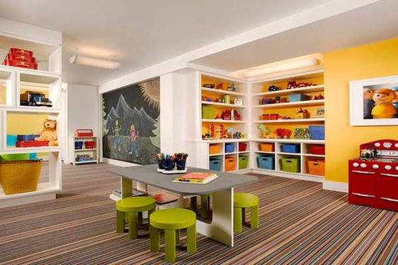 Basement Playroom Ideas Basement Playroom Ideas Striped Floor