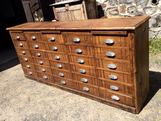 Meuble de papeterie ann es 40 art d co brocante - Meuble annee 40 ...