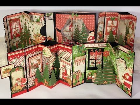 Nov 2014 Graphic 45 Raining Cats & Dogs, Twas the Night Before Xmas, & Time to Celebrate  envelope pop up 3D cards
