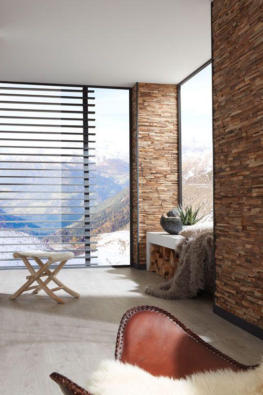 Braune Wandverkleidung Aus Holz Und Heller Boden Einfach Online Bestellen Bei Www Planeo De Holzwand Diywand Wandverkleidung Wandverkleidung Holz Verkleidung