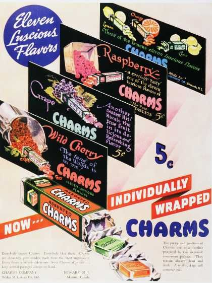 Vintage Candy Advertisements of the 1930s  - Charms