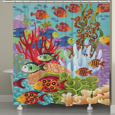 Bay Isle Home Studdard Fish In The Hood Shower Curtain Shower