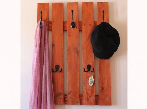 Etsy palette porte manteaux orange r cup 39 palettes pinterest d co etsy et orange - Porte manteau en palette ...