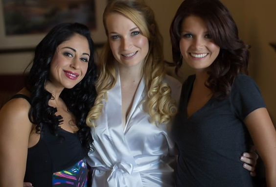 Airbrush makeup and hair for Bride and Airbrush makeup for Bridesmaids by: me 6/14/14
