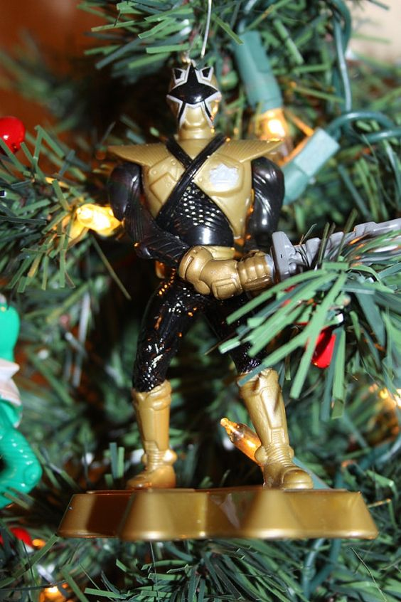 Power Ranger Recycled Christmas Ornament Blast by jewelryonmymind ...
