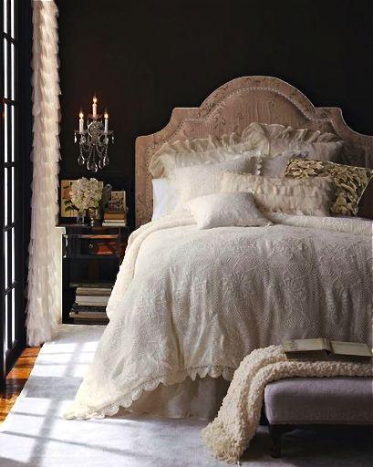 Lovely. My new 'feminine' bedroom!!