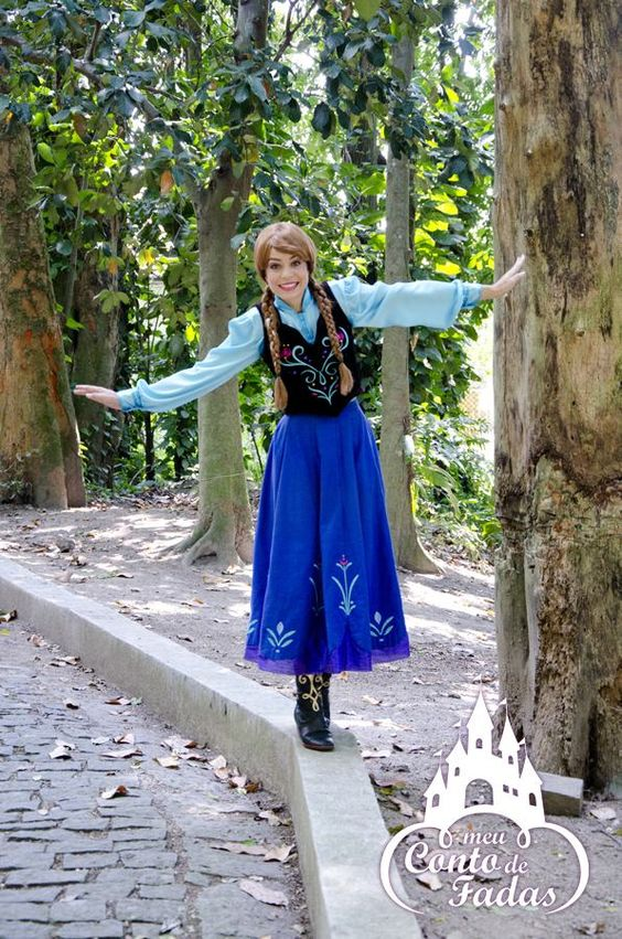 Personagem vivo- Ana - Frozen www.meucontodafadas.com.br
