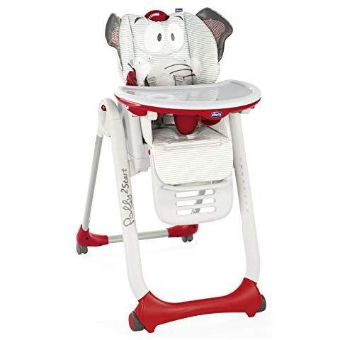 Chicco Polly 2 Star Trona Hamaca Divertida Y Compacta 4 Ruedas De 0 A 3 Anos Diseno Elefante Baby Elephant High Chair Chicco