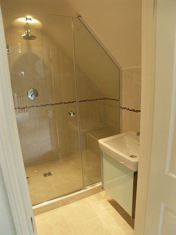 Shower Enclosure Awkward Shape Bathrooms Pinterest Summer