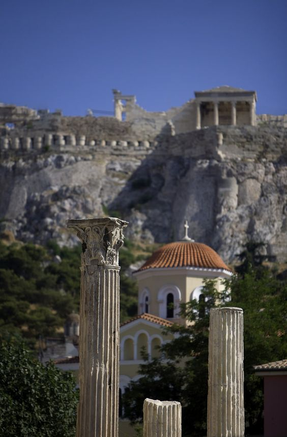 Panagia Grigoroussa Church & Acropolis - Athens, Greece: