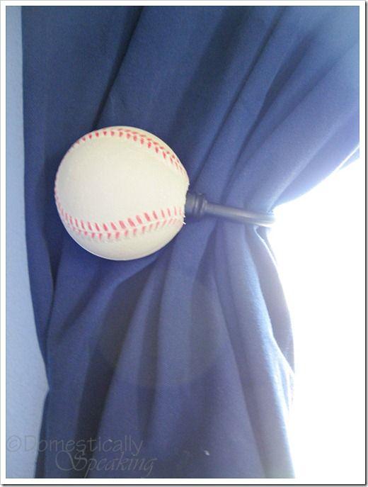 Burlap and Baseball Holdback… - Domestically Speaking