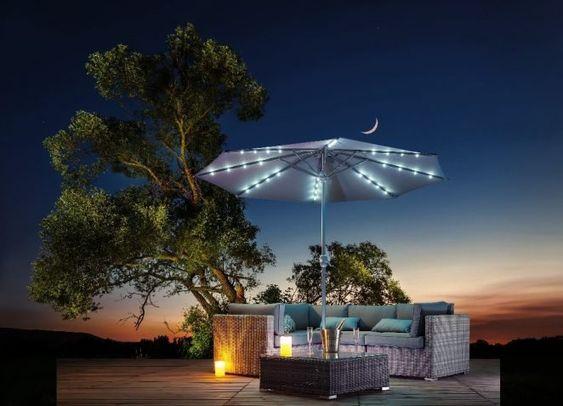 Parasol Lumineux Mael 32 Led 2 35 M Parasol Et Pied De Parasol Mobilier De Jardin Jardin Et Plein Air En 2020 Salon De Jardin Gifi Jardins Mobilier Jardin