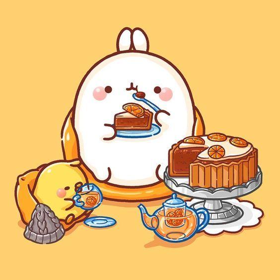 Pin On Comics Chibi anime food wallpaper
